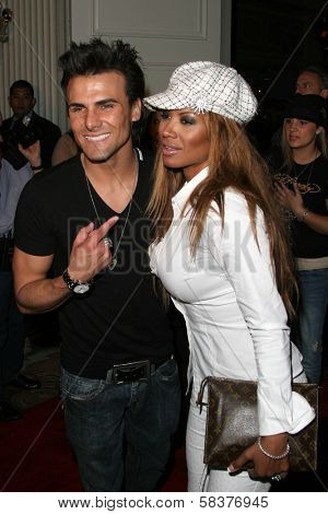 Jeremy Jackson and Traci Bingham at the DVD Release of