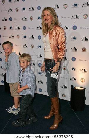 Lucy Lawless and her sons at the Griffith Observatory Re-Opening Galactic Gala. Griffith Observatory, Los Angeles, CA. 10-29-06