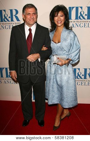 Leslie Moonves and Julie Chen at The Museum of Television & Radio's Annual Los Angeles Gala. Regent Beverly Wilshire Hotel, Beverly Hills, CA. 10-30-06