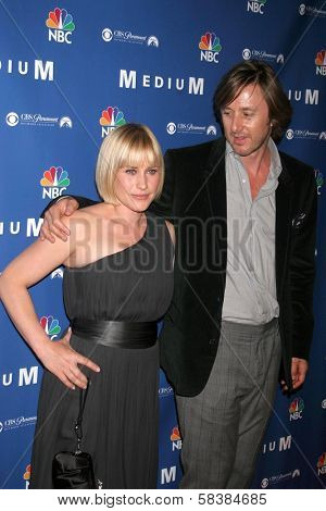 Patricia Arquette and Jake Weber at the NBC fall party for the hit drama