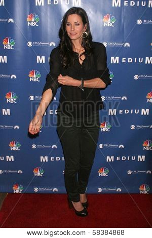 Courteney Cox at the NBC fall party for the hit drama