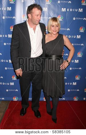 Thomas Jane and Patricia Arquette at the NBC fall party for the hit drama