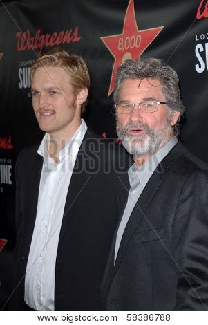 Kurt Russell, Wyatt Russell at Walgreens' New Flagship Store Opening in Los Angeles, Walgreens, Hollywood, CA 11-30-12