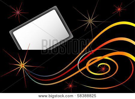 Night background with card
