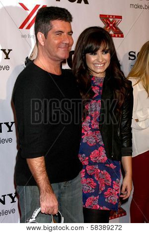 Simon Cowell, Demi Lovato at The X-Factor Viewing Party, Mixology, Los Angeles, CA 12-06-12