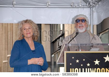 Carole King, Lou Adler at the Carole King Hollywood Walk Of Fame Ceremony, Hollywood, CA 12-03-12