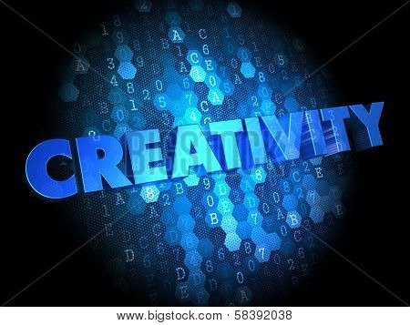 Creativity on Digital Background.