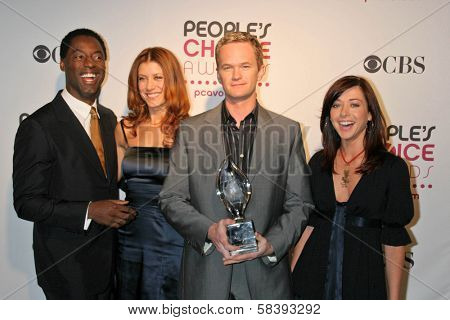 LOS ANGELES - NOVEMBER 07: Isaiah Washington, Kate Walsh, Neil Patrick Harris and Alyson Hannigan during the 33rd Annual People's Choice Awards Nominations November 07, 2006 in Beverly Hills, CA.