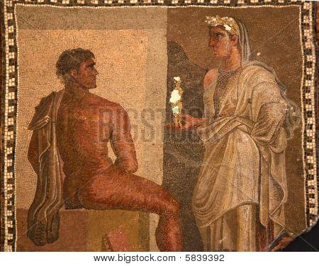 Ancient Roman Mosaic Baths Capitoline Museum Rome Italy