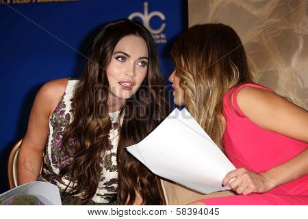 Megan Fox, Jessica Alba at the 70th Annual Golden Globe Awards Nominations Announcement,  Beverly Hilton, Beverly Hills, CA 12-13-12