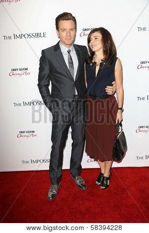 Ewan McGregor and Eve Mavrakis at the