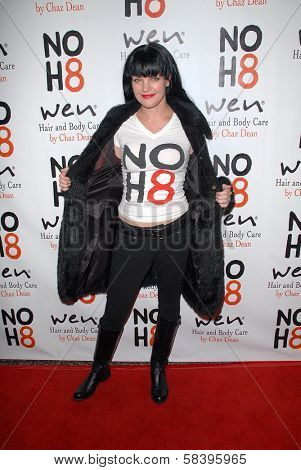 Pauley Perrette at the NOH8 Campaign 4th Anniversary Celebration, Avalon, Hollywood, 12-12-12