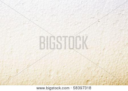 Polystyrene White Yellow Foam Texture