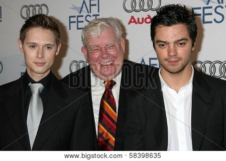 LOS ANGELES - NOVEMBER 4: Samuel Barnett with Richard Griffiths and Dominic Cooper at the AFI Fest 2006 Screening of