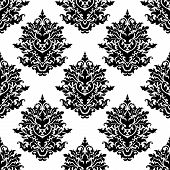 Ornate seamless pattern with  foliate motifs