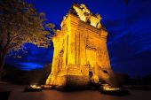 picture of champa  - Nhan Cham tower - JPG