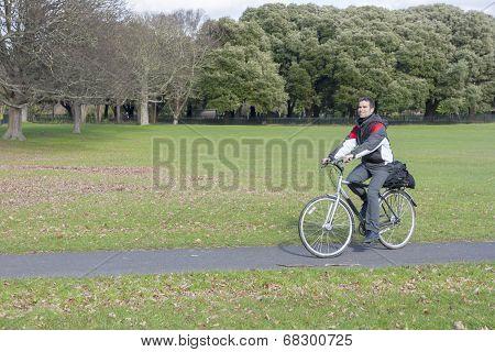Biker In The Park