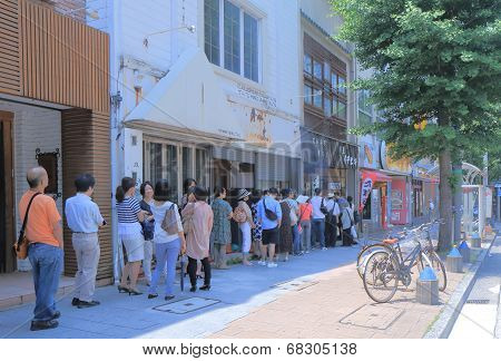 Popular eel restaurant queue Nagoya Japan