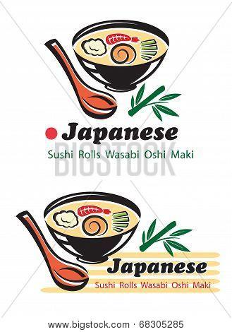 Japanese cuisine for restaurant design