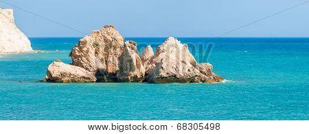 Seascape Near Aphrodite's Rock. Paphos, Cyprus
