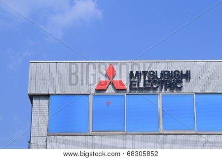 Mitsubishi Electric Company logo.