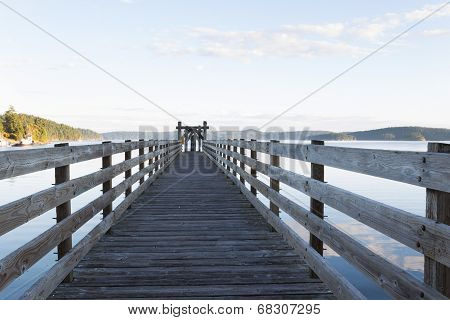 Wooden Walkway In Orcas Island Harbor