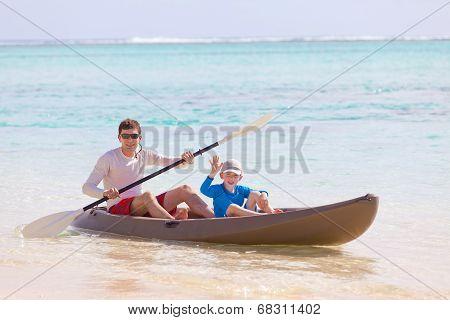 Family At Kayak