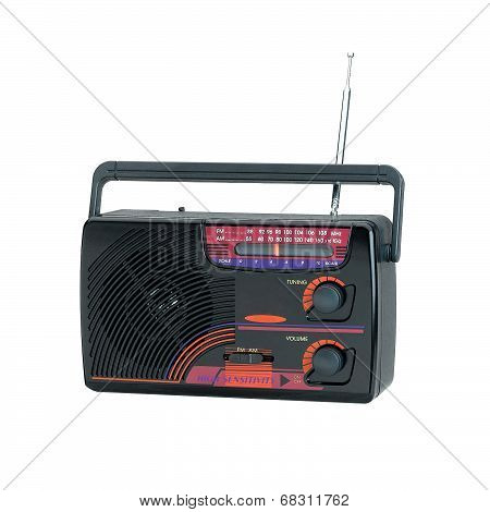 old fashioned design of the transistor radio