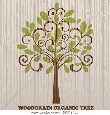 Wood grain organic tree