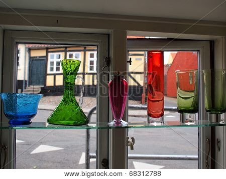 Beautiful Decorative Glass Carafes Vase Bottles