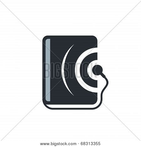 Audio book vector sign