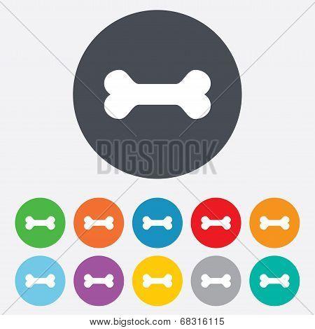 Dog bone sign icon. Pets food symbol.