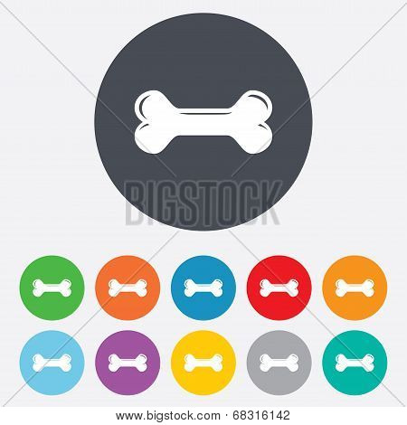 Dog bone sign icon. Pets food symbol.
