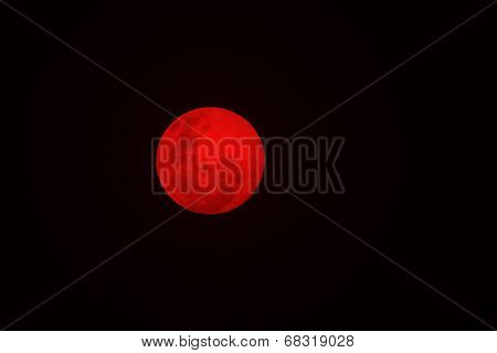 Full Moon - Nature Background in Color - Red