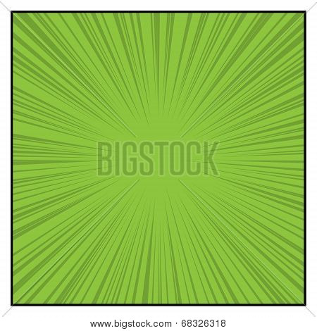 Comics Color Radial Speed Lines graphic effects. Vector