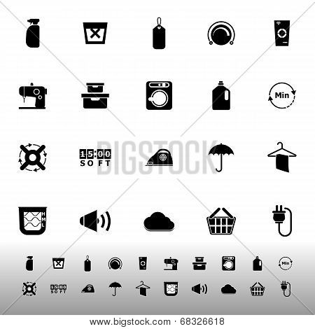 Laundry Related Icons On White Background