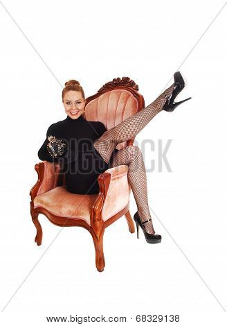 Woman With Leg Up.