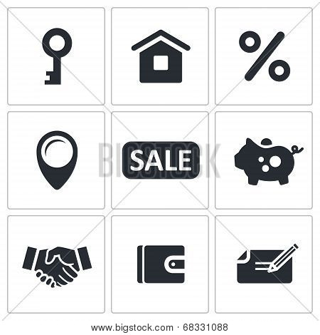 Real Estate Deal Icon Set
