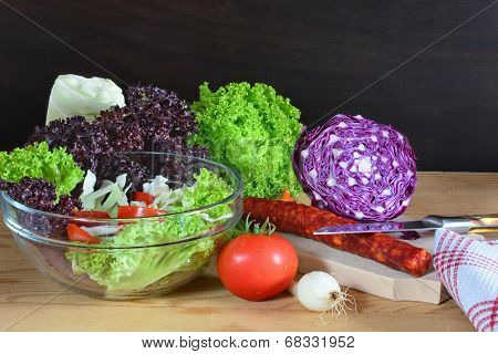 Colorful Raw Vegetables