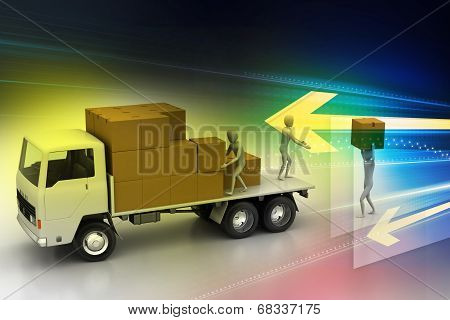 Transportation trucks in freight delivery
