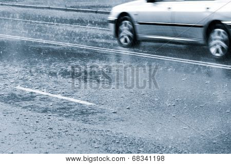 Driving In Heavy Rain