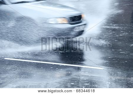 Splashing Car