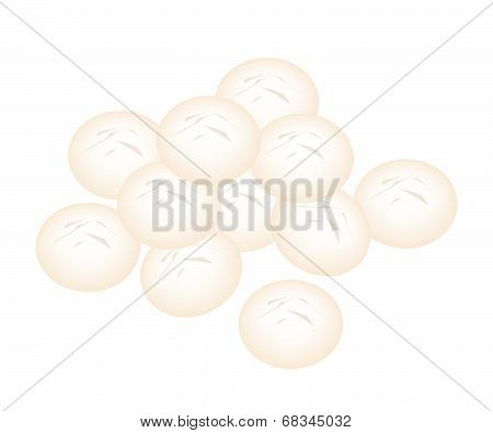 Delicious Homemade Shortbread Cookies On White Background