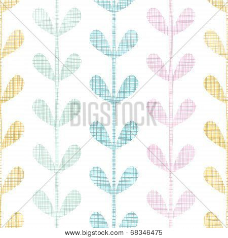 Abstract textile colorful vines leaves seamless pattern background