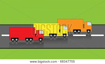 Trucks On Road
