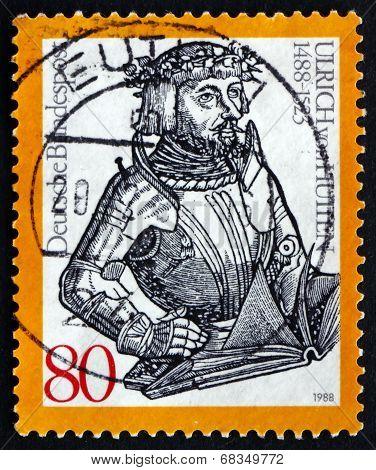 Postage Stamp Germany 1988 Ulrich Reichsritter Von Hutten, Human