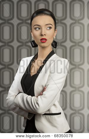 Fashion Girl With Elegant Jacket