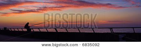 Sunset at Tel-Aviv port embankment, Israel
