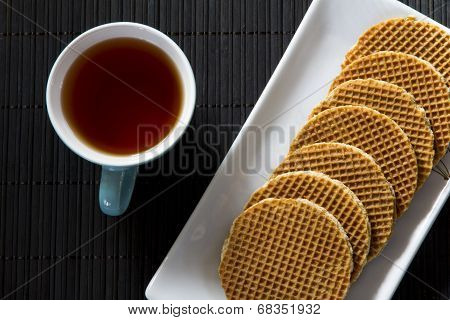 Dutch Waffles with Tea from Above