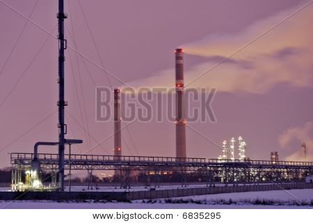 Industrial landscape in Central Bohemia.